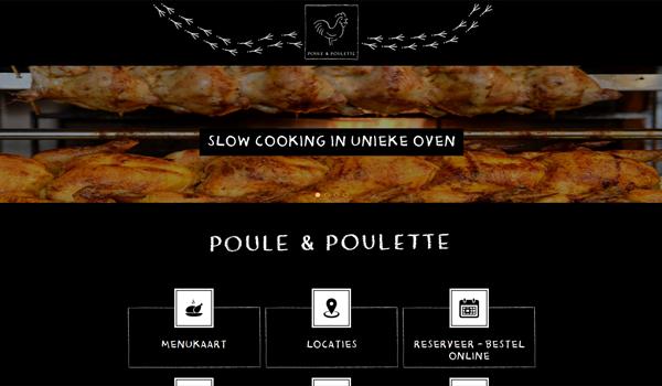Webdesign portfolio image - Poule & Poulette