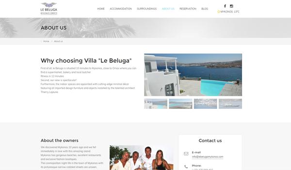 Webdesign portfolio image - Le Beluga Mykonos