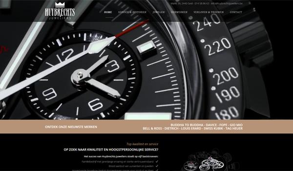 Webdesign portfolio image - Huybrechts Jeweliers